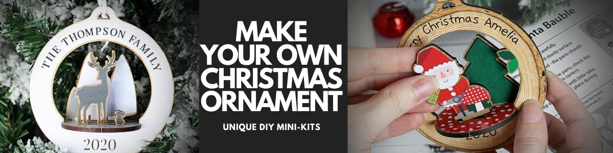 personalised diy make your own christmas ornament baubles gifts