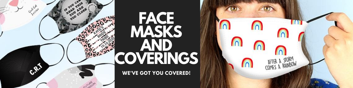 personalised face masks and face coverings gifts