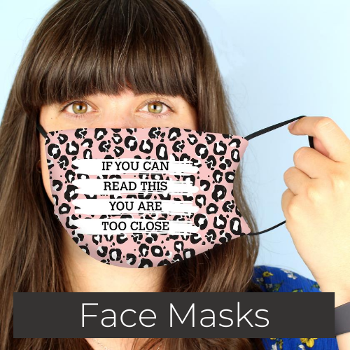 personalised face mask and face covering gifts