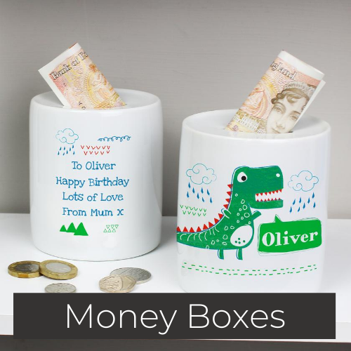 personalised money box gifts
