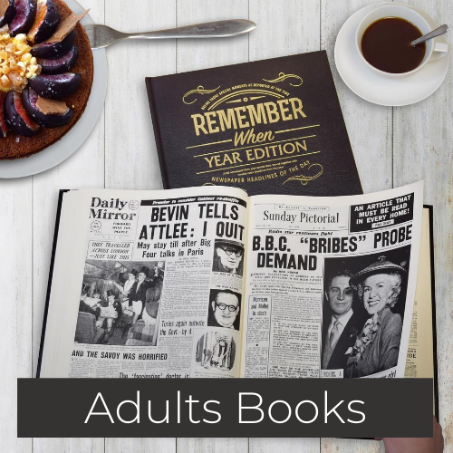 personalised adult books newspapers colouring books gifts