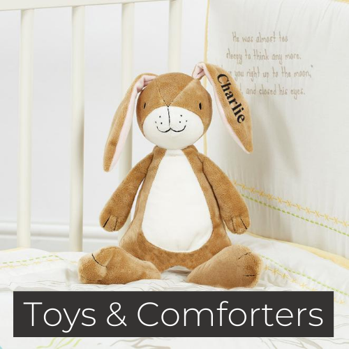 personalised baby toys comforters wooden toys gifts