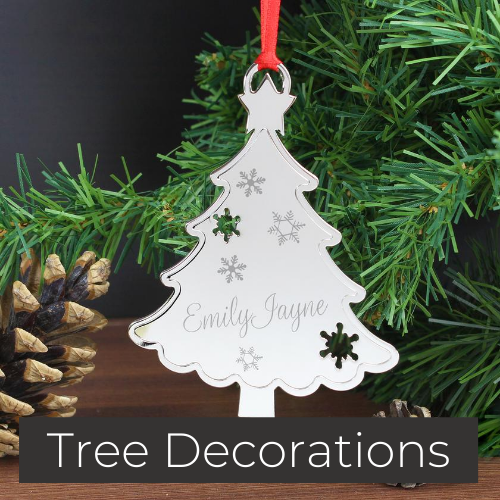 personalised christmas tree bauble decorations gifts